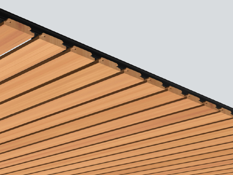 Create a classic timber lining effect with Austratus' Flat Panel profile