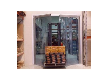 Strip curtains provide simple pass through for forklifts
