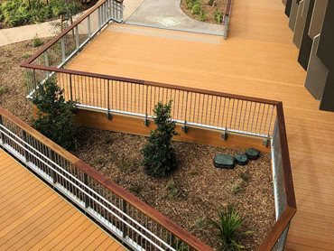 FIBA-DEK decking helped realise the design vision for the outdoor spaces