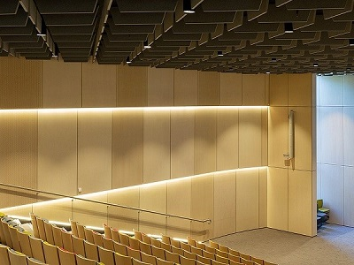 Key-Ply Euro Birch Plywood wall linings at Taronga Institute of Science and Learning auditorium