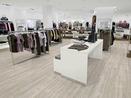 LVT; Luxury Vinyl Tile, modular heterogeneous vinyl