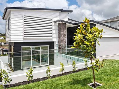 Exterior View of LouvreTec Exterior Louvres on House Facade