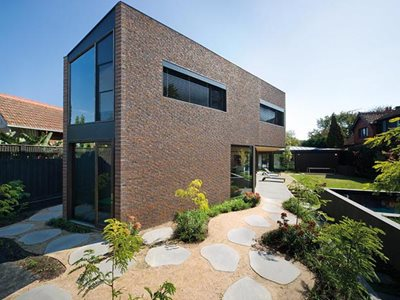 Residential house with brick cladding