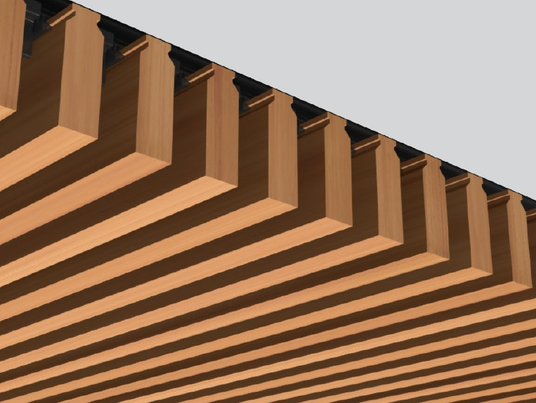 Fin Profile: A prefinished system for architectural timber walls, ceilings and screens