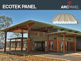 ARCPANEL Ecotek Panel: The complete sustainable low pitched roofing solution that's quick to install