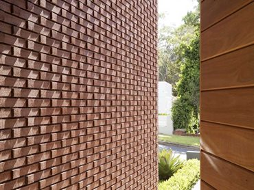 The pattern on the dramatic frontage had some of the bricks protruding 15mm