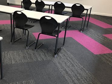 EcoSoft carpet tiles provided an environmentally sound, acoustically robust and aesthetically beautiful flooring solution