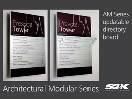 Wayfinding, Directory Boards, Door signs – Updateable modular sign system by S2K Identity Systems