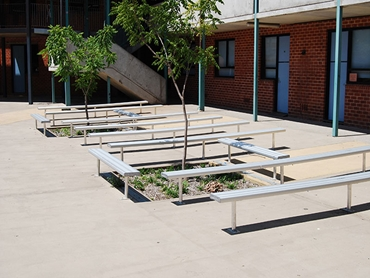 BAB Aluminium School Bench Seating l jpg