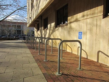 Bicycle parking racks and rails