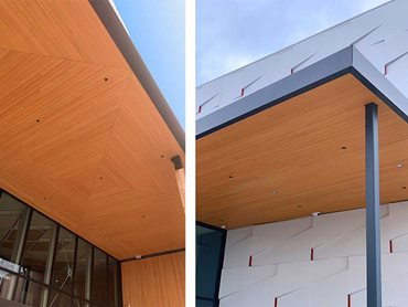 Innowood's shiplap cladding system features an interlocking tongue and groove design