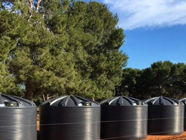 Polymaster's premium 22,500L rainwater tanks fitted the specifications perfectly