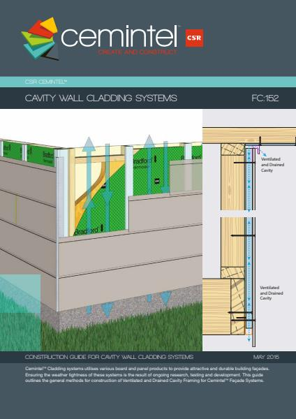 Cemintel cavity wall cladding system brochure