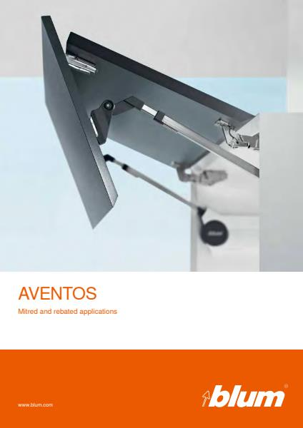 Blum AVENTOS mitred and rebated brochure
