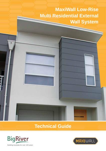 Big River Group maxiwall low rise residential technical guide - external