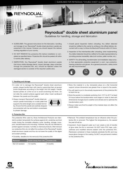 Architectural Glass & Cladding Reynodual guidelines for handling, storage and fabrication