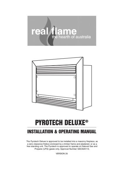 Pyrotech Deluxe Fireplaces