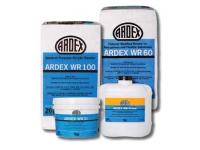 Ardex's Facade Restoration Range includes an acrylic render, a polymer modified render, a pre-mixed jointing and patching mortar, and a polymer primer and additive