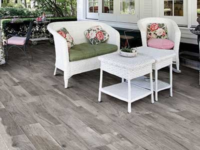 Timber look porcelain tiles are strong and durable, making them very practical for outdoor areas