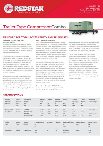 Trailer Type Compressor Combo