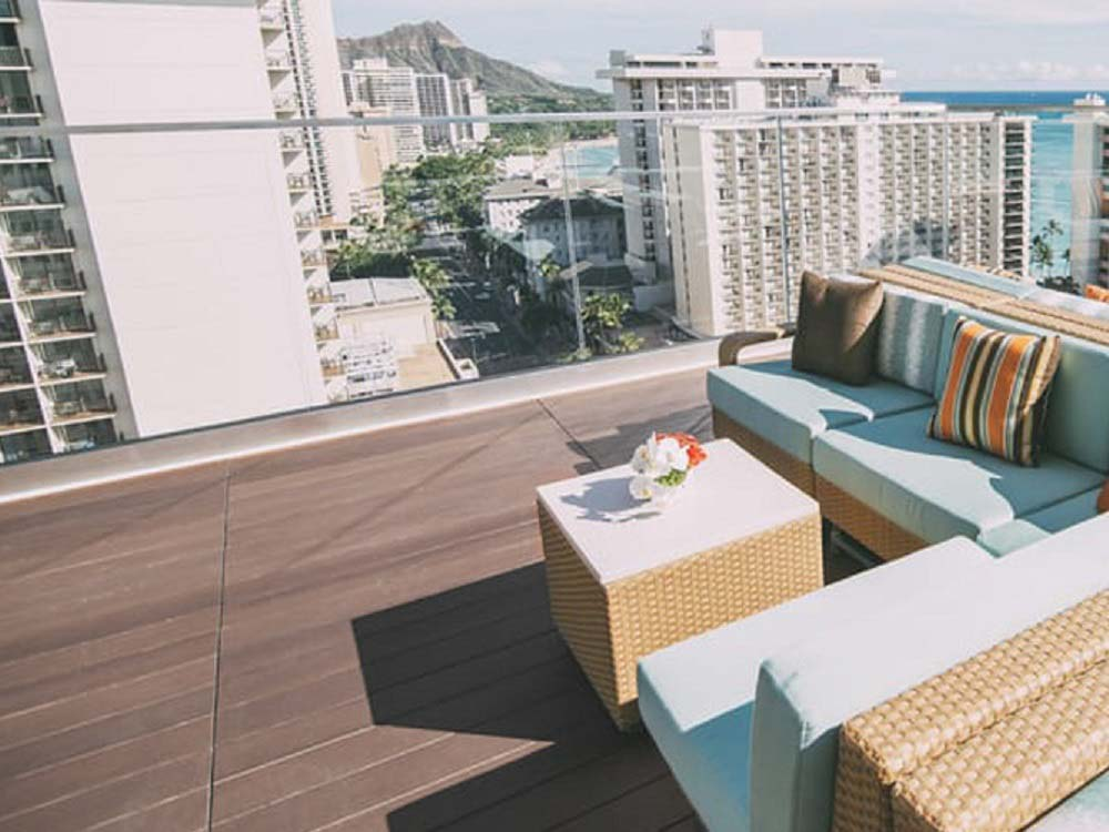 Sky Waikiki featuring decking supported by QwickBuild deck frames