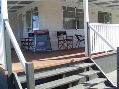 The display home featured Mitten Vinyl's Insulplank insulated vinyl cladding and composite decking