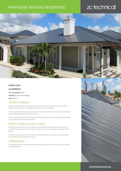 Paradise Waters residential case study
