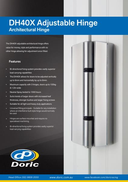 DH40X Adjustable Architectural Hinge