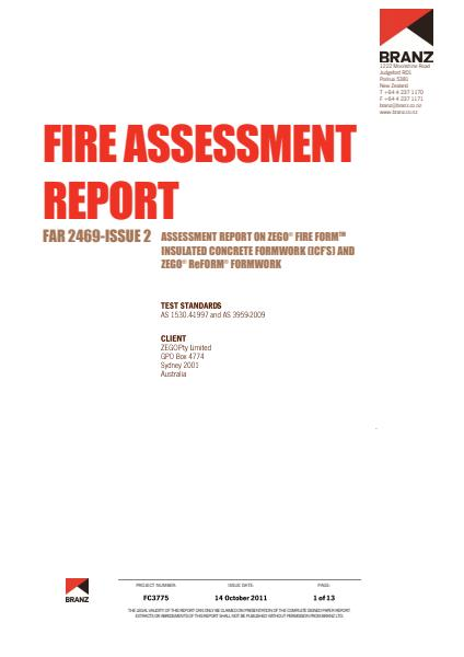 ZEGO Fire rating compliance