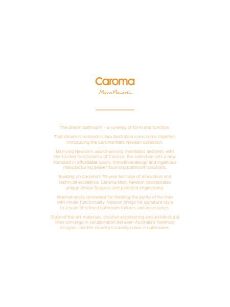 The Caroma Marc Newson Brochure