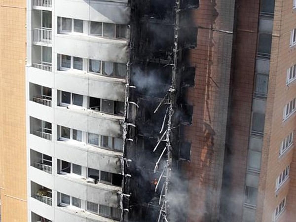 Having proper passive fire protection can be the difference between a fire-damaged apartment and a fire-damaged apartment block. Image: News Corp