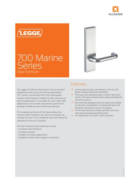 Legge 700 Marine Series product brochure