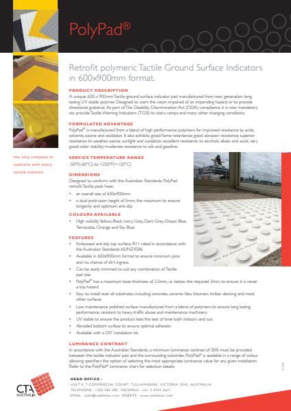 PolyPad Retrofit Polymeric Tactile Ground Surface Indicators