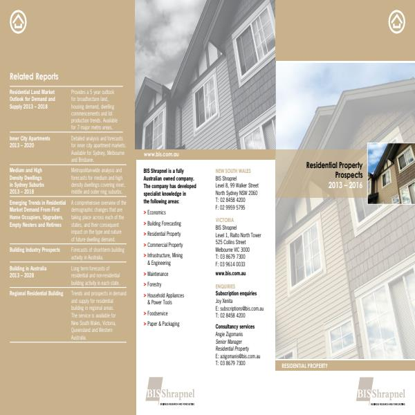 Residential Property Prospects Brochure 2013
