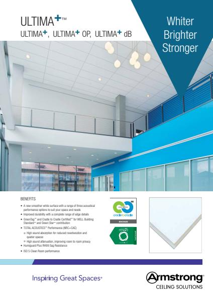 Armstrong Ceiling Solutions Ultima+ family brochure