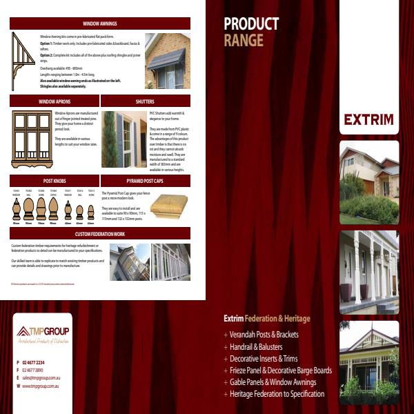 Extrim Federation and Heritage Decorative Timber Products