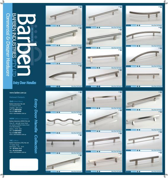 Barben Entry Handles Product Brochure
