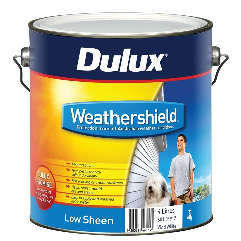 Dulux Weathershield Low Sheen Acrylic in Banana Boat