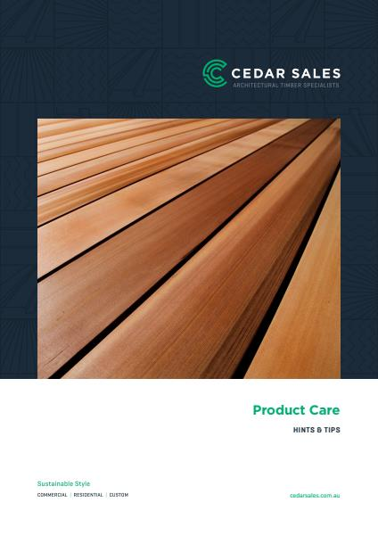 Product care fact sheet