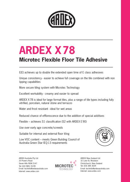 ARDEX X 78 -  Microtec Flexible Floor Tile Adhesive