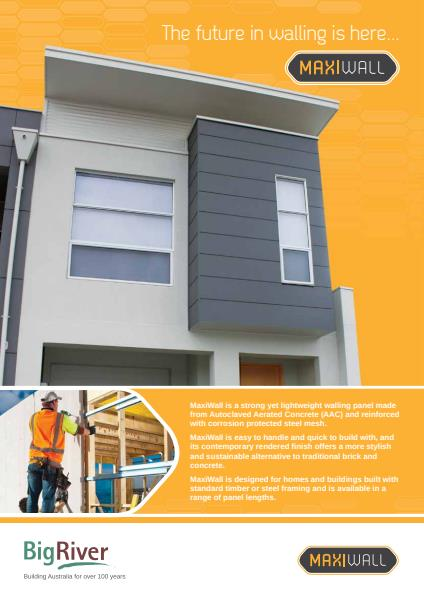 Big River Group maxiwall brochure
