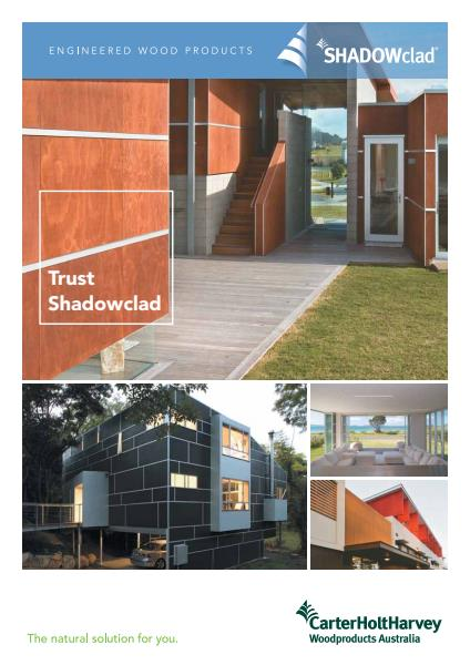​Shadowclad plywood cladding brochure from Gunnersen