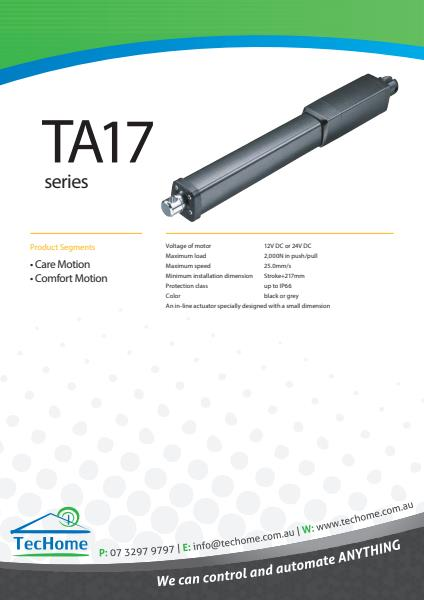TEC FactSheet Actuators TA17