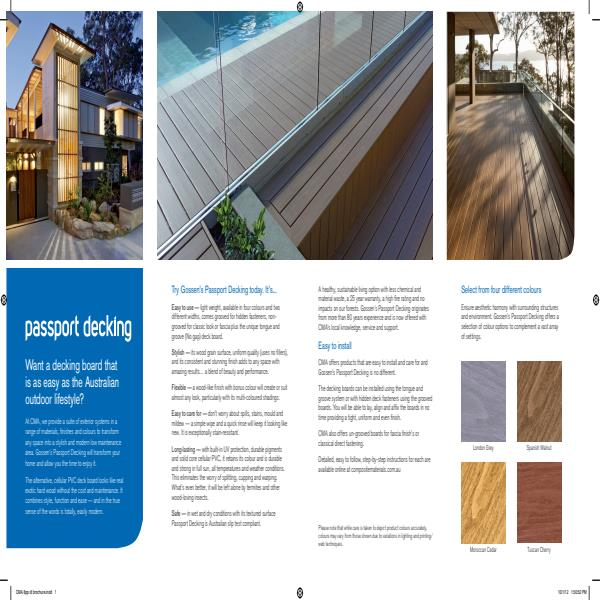 Passport Decking Brochure