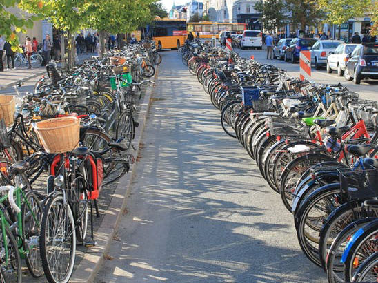 If cyclist-friendly cities like Copenhagen can offer abundant and conveniently sited parking space for bikes, why not Australian cities? Grey Geezer/Wikimedia, CC BY-SA