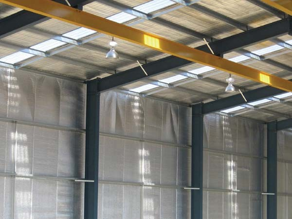 Wall and ceiling linings in warehouses and sheds