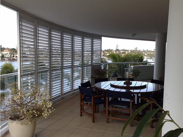 Shutterflex screening can be added for sun shading on patios