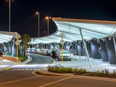 MakMax fabric canopies at Perth Airport