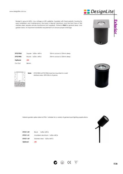 DesignLite In Ground Lights Product Information