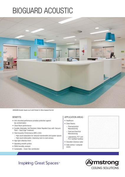Armstrong Ceiling Solutions Bioguard flyer